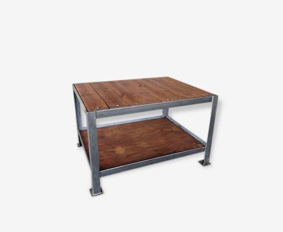 Table Datelier Ilot Central Métal Industriel 67665