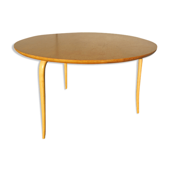 Scandinavian Birch Coffee Table Model Annika By Bruno Mathsson For Karl Wood Wooden Good Condition Hu65249b