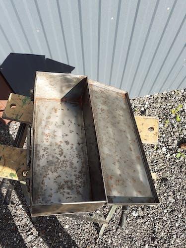 Brushed metal box