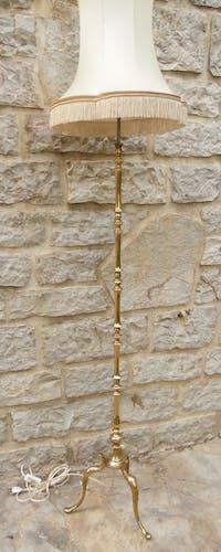 Lampadaire laiton abat jour pagode