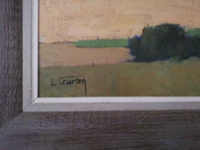 Oil on landscape canvas