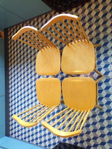 Suite 4 chaises Baumann Tacoma