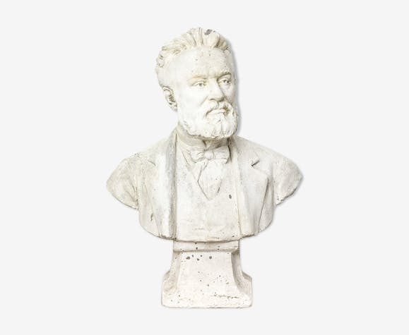 "Antique plaster bust ""Pasteur"""
