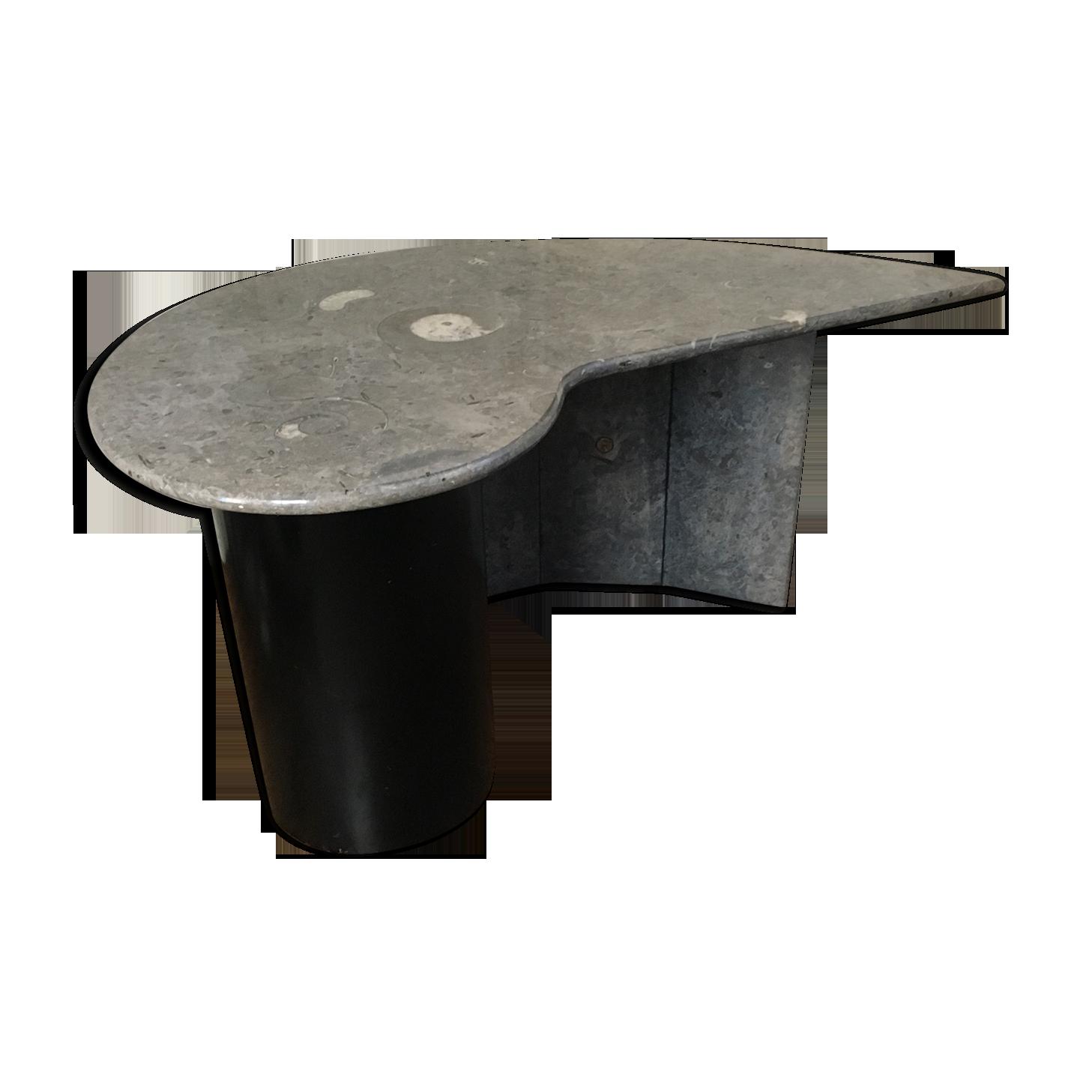 Bureau en marbre forme libre marbre gris design gqx k