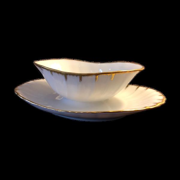 Saucière en porcelaine de Limoges, Bernardaud