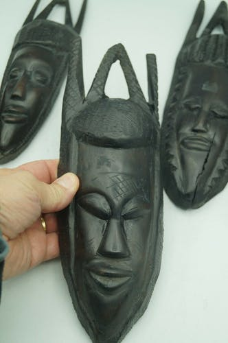 Lot 5 masques africain