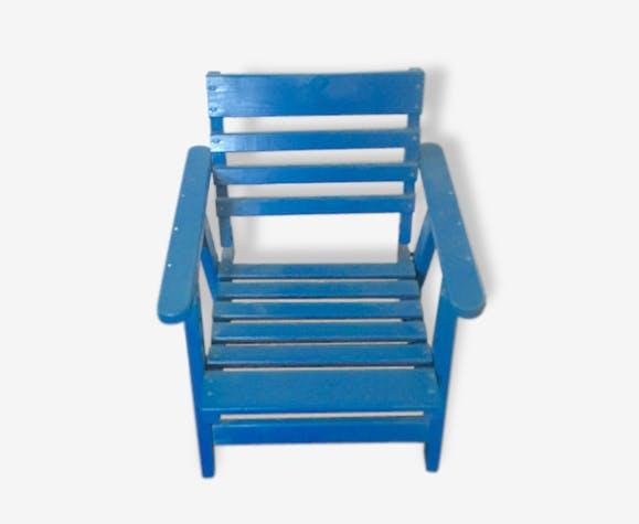 fauteuil enfant pliant style cabane de plage bois massif. Black Bedroom Furniture Sets. Home Design Ideas