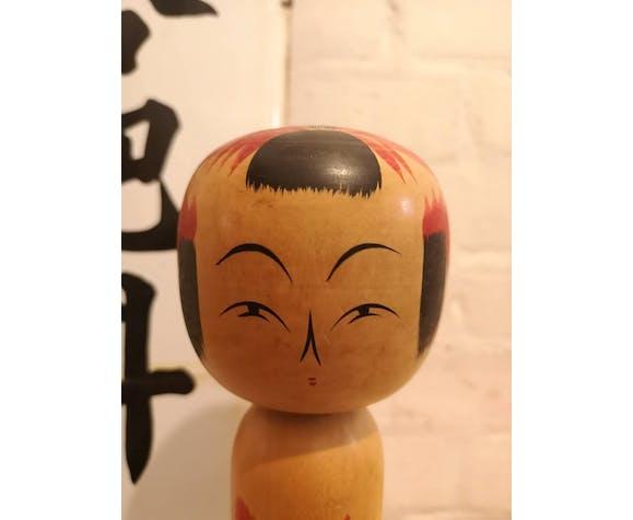 Poupée peinte à la main japonaise de Kokeshi des années 1950