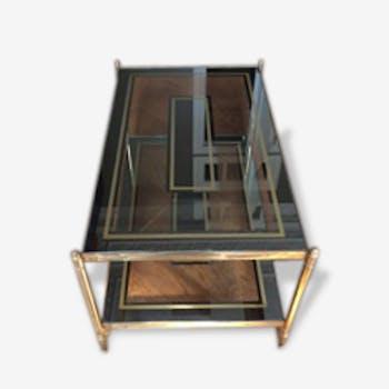 Set d'une Table Basse et de deux Tables de Chevet - Années 30