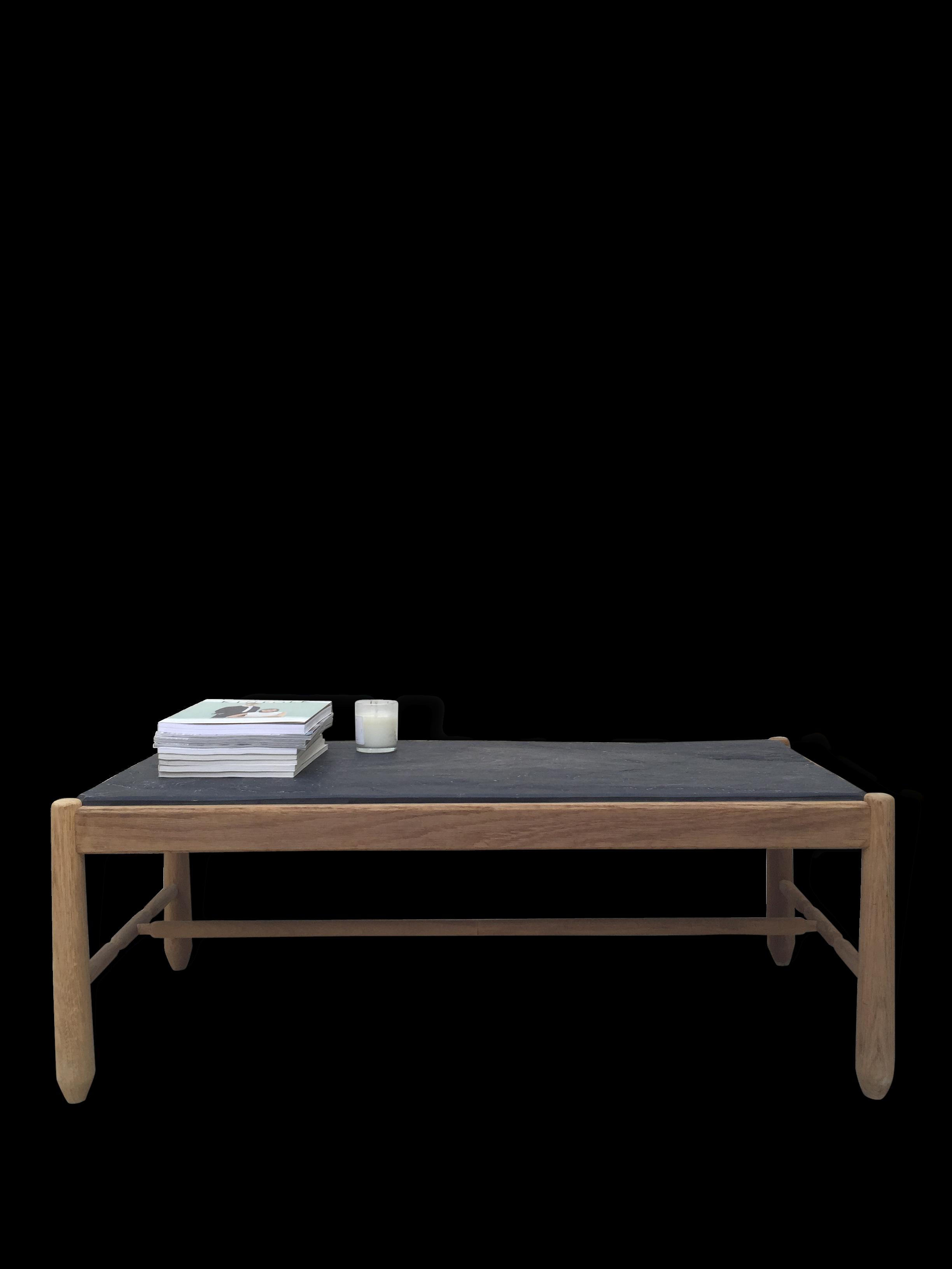 table basse ardoise affordable table basse chne et. Black Bedroom Furniture Sets. Home Design Ideas