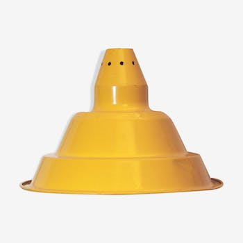 1970s vintage yellow lampshade in industrial style
