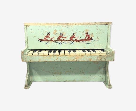 piano enfant en bois bois mat riau vert vintage zwmntnt. Black Bedroom Furniture Sets. Home Design Ideas