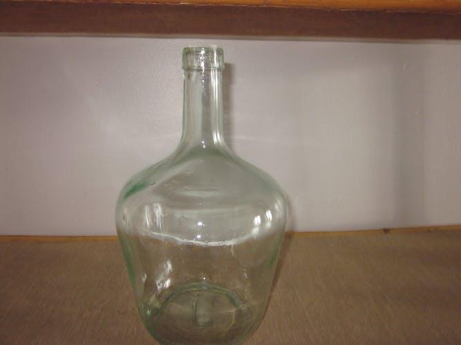 Demijohn in glass