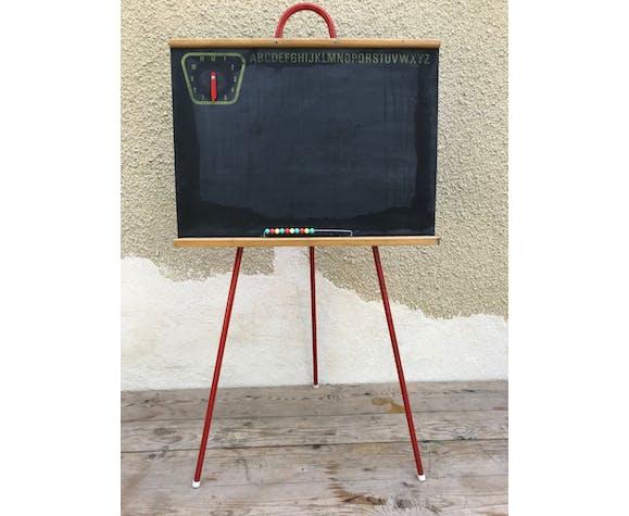 Old blackboard school child wood