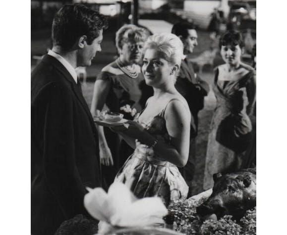 """Photo originale cinéma """"La Notte"""" Michelangelo Antonioni, Mastroianni 1961"""