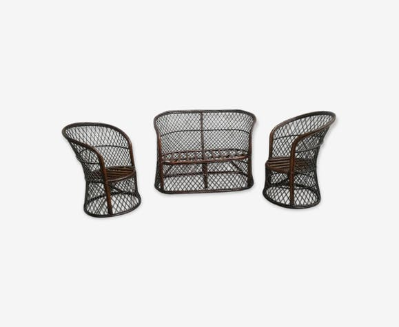salon de jardin terrasse rotin bambou vintage bois mat riau bois couleur vintage iis4ozz. Black Bedroom Furniture Sets. Home Design Ideas