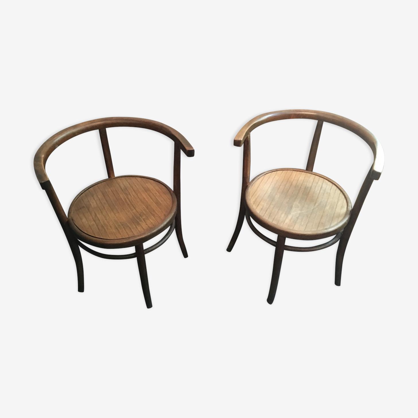 Paire de fauteuils Thonet, modèle 8, 1904