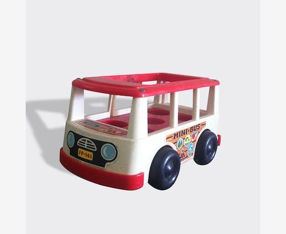 Mini bus fisher price 1969 - plastic - vintage - 6760