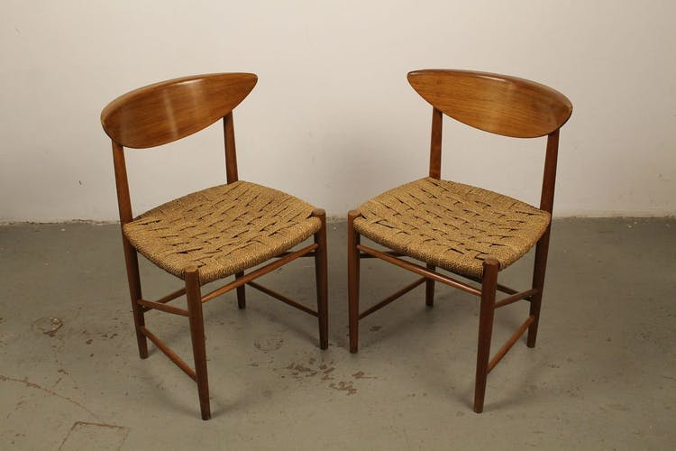 Chaises N ° 316 par Peter Hvidt & Orla Mølgaard-Nielsen pour Søborg 1950s