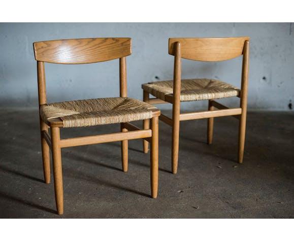 Lot de 4 chaises Borge Mogensen
