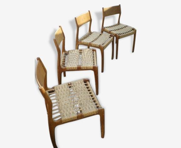 4 chaises cordage Sedie Friuli italie | Selency