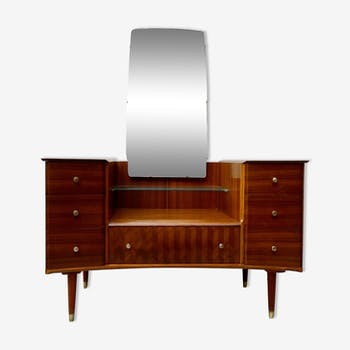 Vintage dressing table with mirror by Uniflex