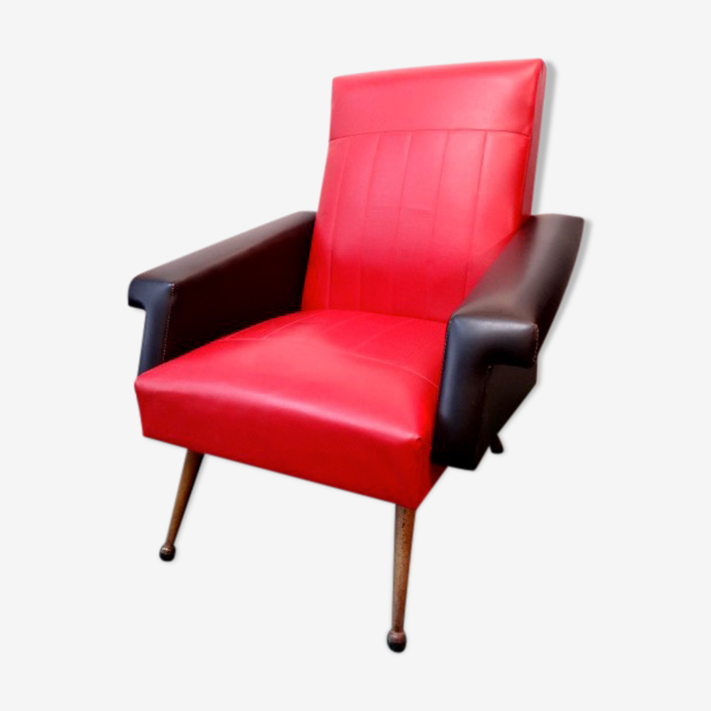 Armchair red and black