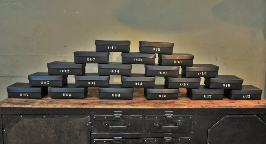 Vintage ingot box France 1940s