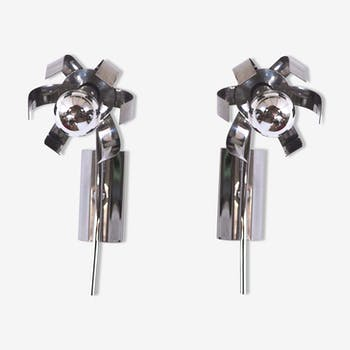Pair of wall stainless