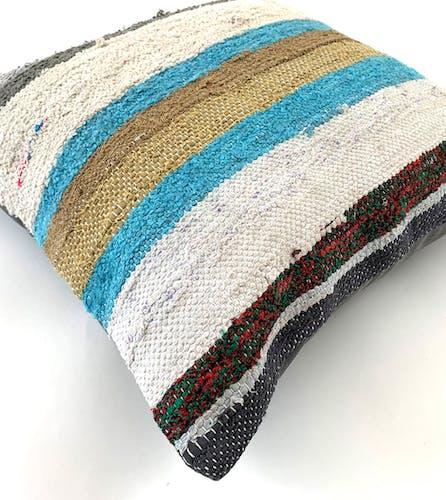 Vintage Turkish kilim cushion cover 45x45cm