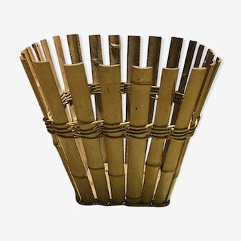 Corbeille en bamboo vintage
