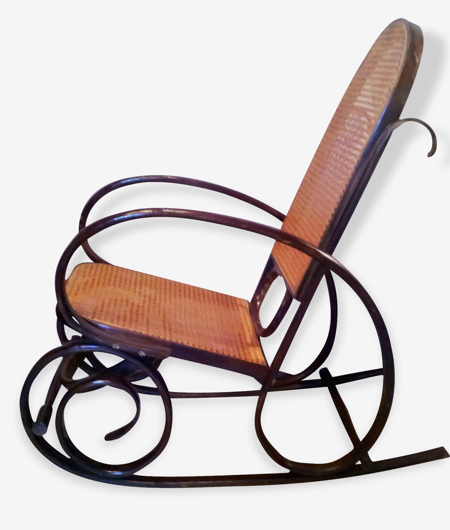 Rocking chair vintage, Marque Thonet