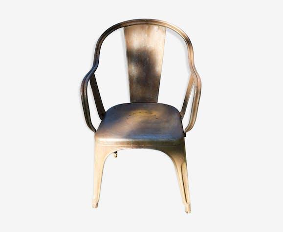 fauteuil tolix modéle c - métal - gris - industriel - f1wgiax