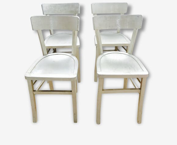 4 Chaises Bistrot Blanche