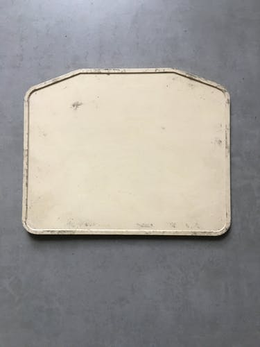Old bus line plate 27