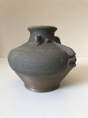 Vase en céramique terre cuite zoomorphe vintage 1960