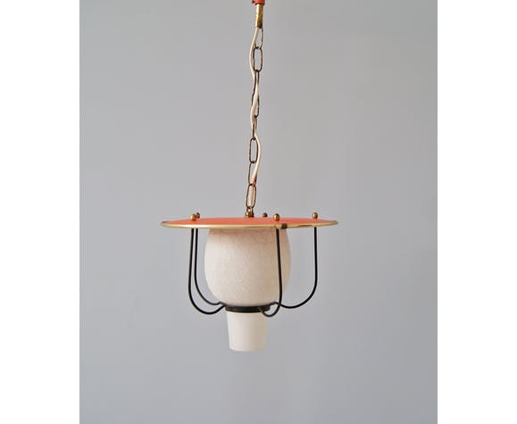 Hanging lamp 50 made of glass, metal and brass