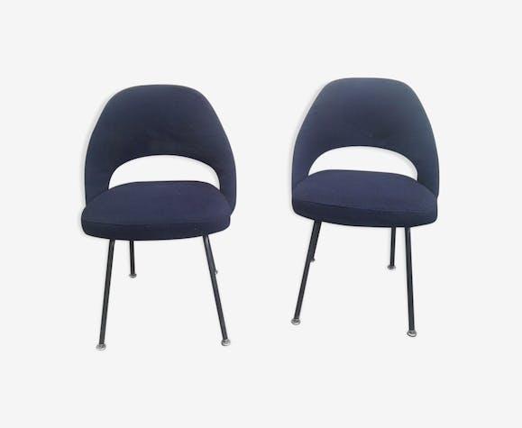 Paire de chaises Conférence par Eero Saarinen édité par Knoll 1957
