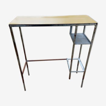 Console in metal and formica industrial style