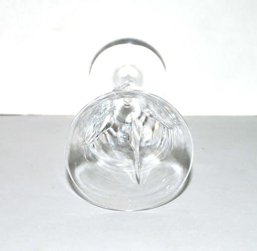 Flûte à champagne en cristal taillé cerdagne Saint-Louis