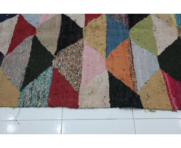 Kilim boucherouite, 108 x 215 cm