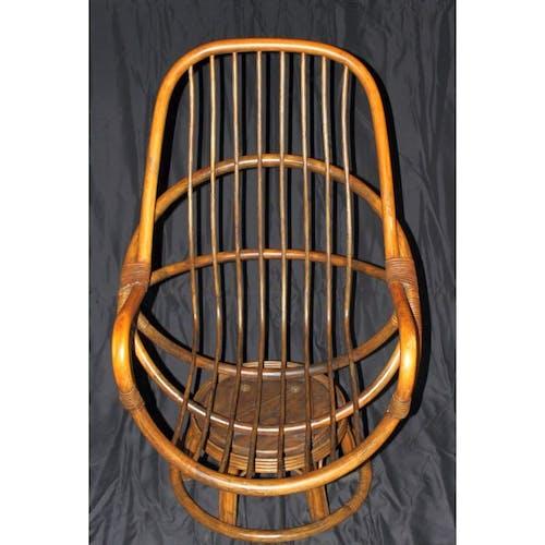 Fauteuil vintage en bambou