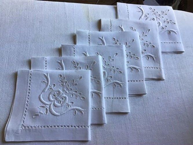 Set de 6 serviettes en lin