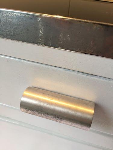 Meuble métal blanc