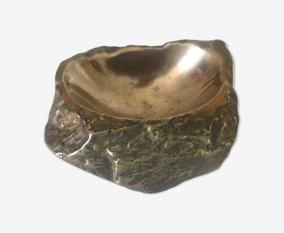 Ashtray bronze rock model Monique Gerber 1970
