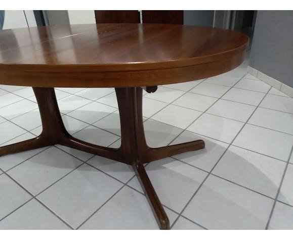 Table extensible Baumann vintage année 1970