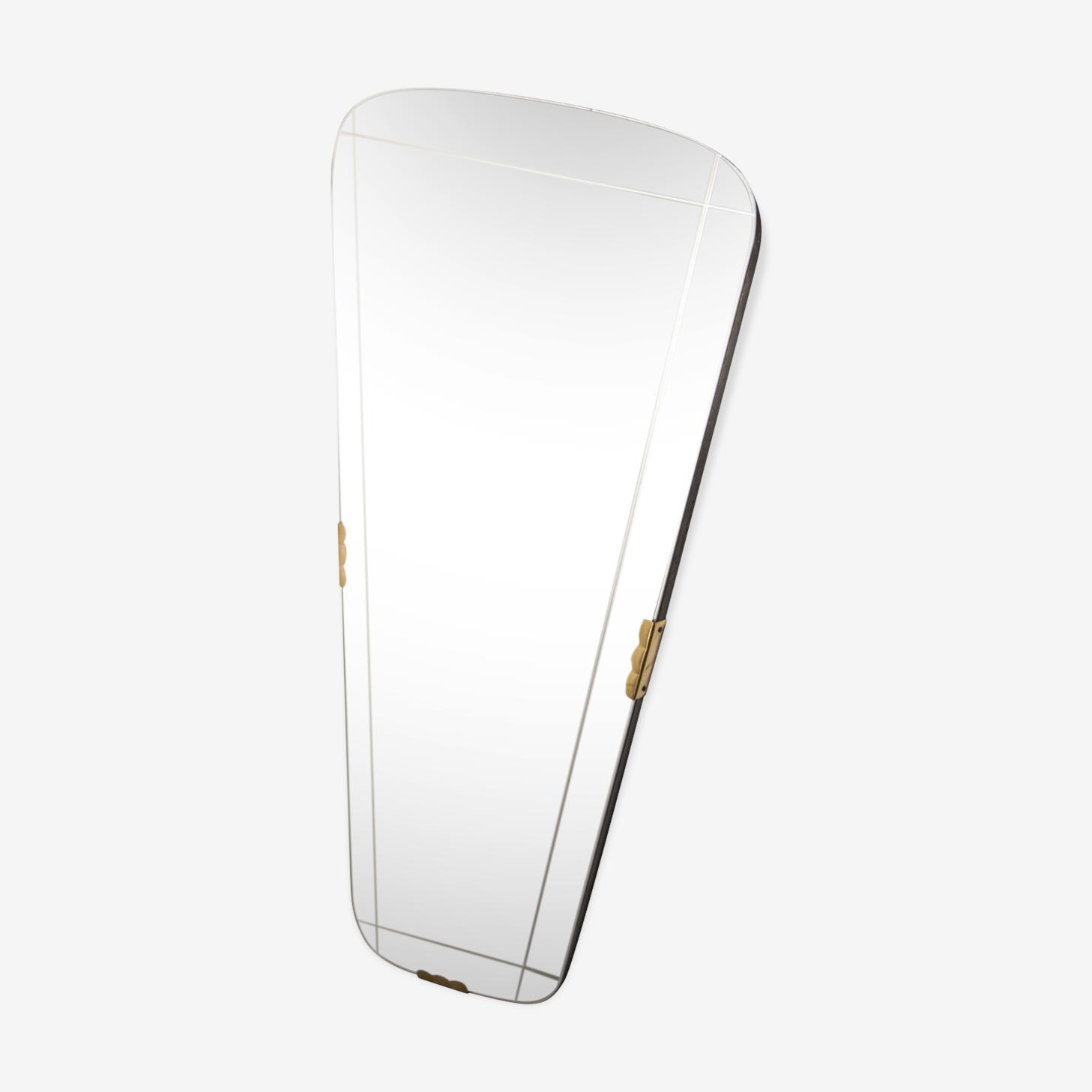 Mirror asymmetrical art deco 76x38cm