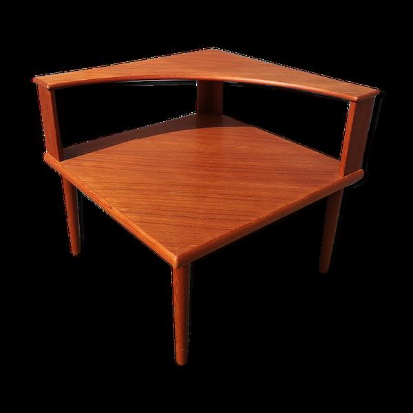 Table basse scandinave carrée en teck