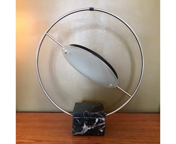 """Lampe à poser """"saturne"""" maison Lucien Gau 1980"""