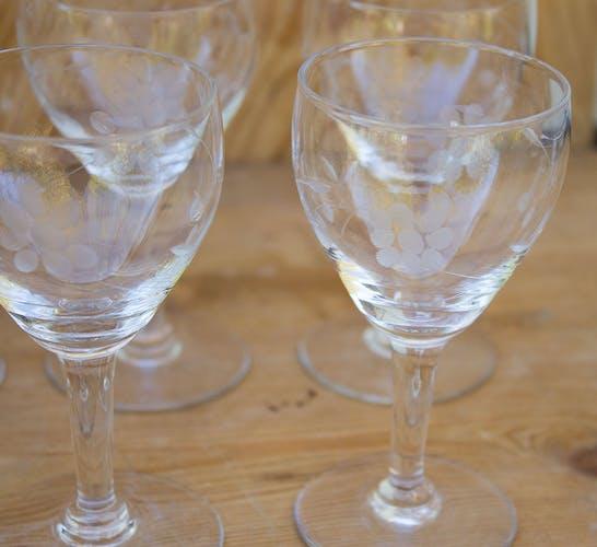 Ensemble 12 verres à porto biseauté